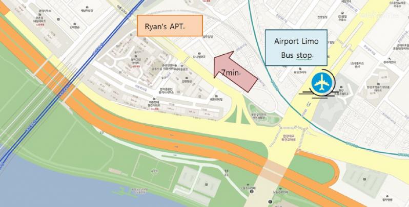 (독채사용) 용산 한강변의 방 3개 아파트 - 공항버스 정류장 3분거리