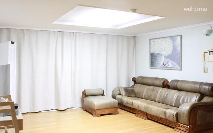(독채사용) 용산 한강변의 방 3개 아파트 - 거실