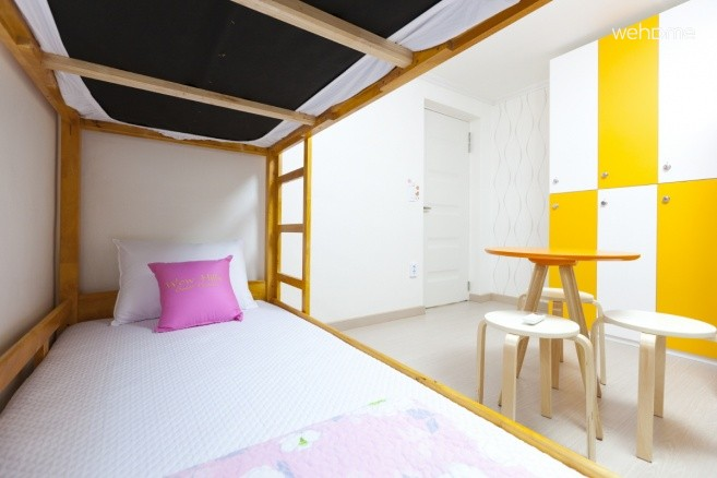 - Dormitory Room (3 Double Deck beds + Locker + Table + Chairs)