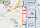 서울역(공항철도, 기차역)에서의 숙소까지의 거리(5분)