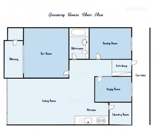 Greenery House(Single Room)