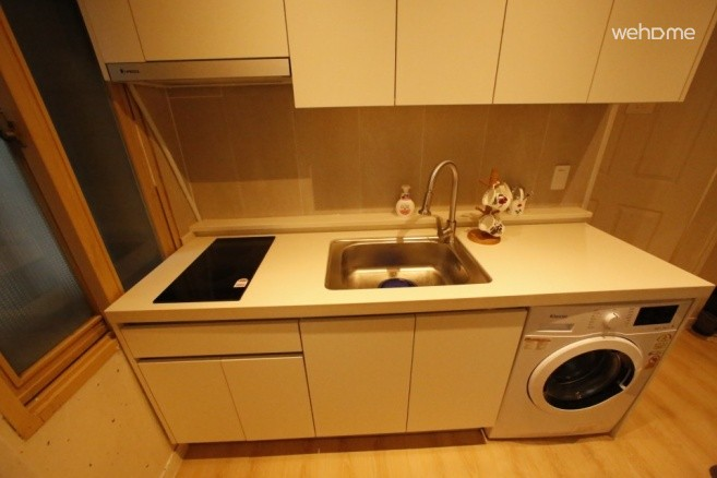 Kitchen-Newly renovated with electric induction heater and washing machine