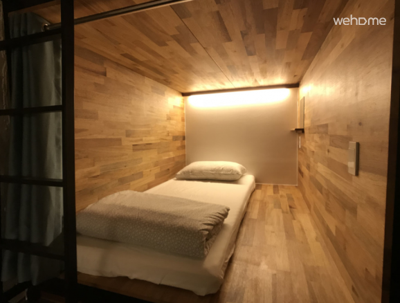 Capsule guest house located in the back gate of Hongdae Seoul Mongxiang Seoul Cube :)