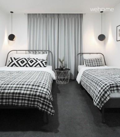 침대 퀸1 싱글1