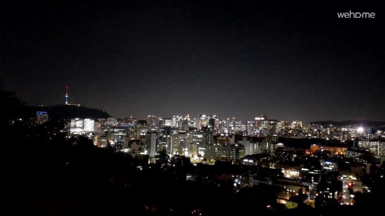 낙산공원에서 바라 본 서울타워