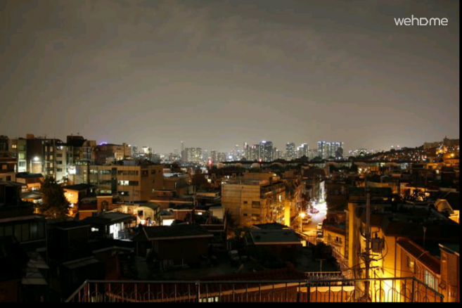 Night view at the rooftop