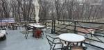 옥상 겨울 풍경