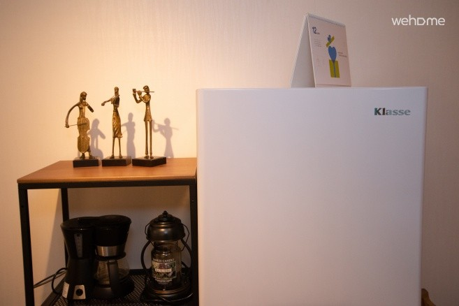 주방내 냉장고 및 커피메이커