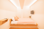 더블침대 1인실 + 외부전용욕실