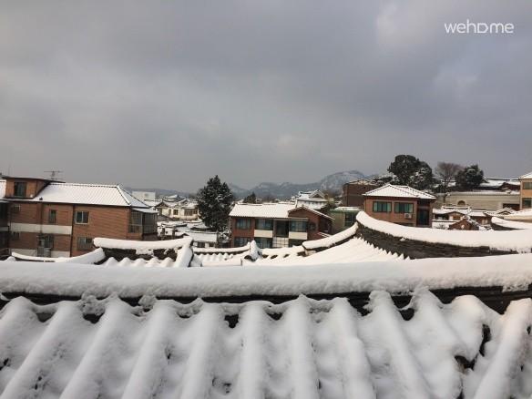 눈오는 날 풍경