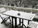 눈 내린 나루 2층 테라스