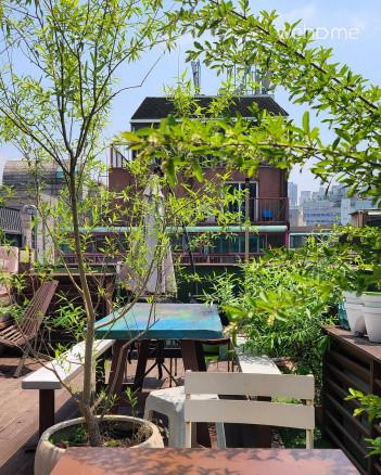 자가격리, 홍대 2분, 3BR/2Bath 루프탑 테라스, 정원 마당, 단독 독채, 10인